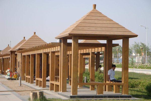 仿木中式长廊
